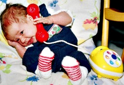 baby on telphone