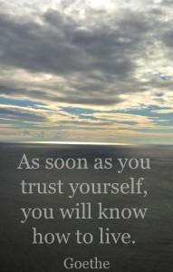 Trust yourself. T is for Trust LisaNalbone.com