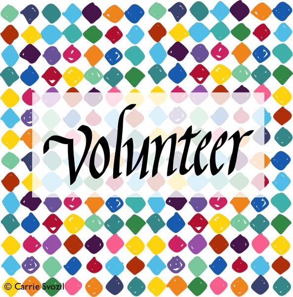 V is for Volunteer. Original artowrk copyright Carrie Svozil