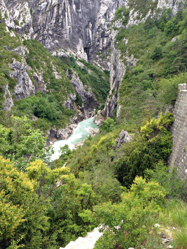 View of Gorges of Verdon from Sentier Martel
