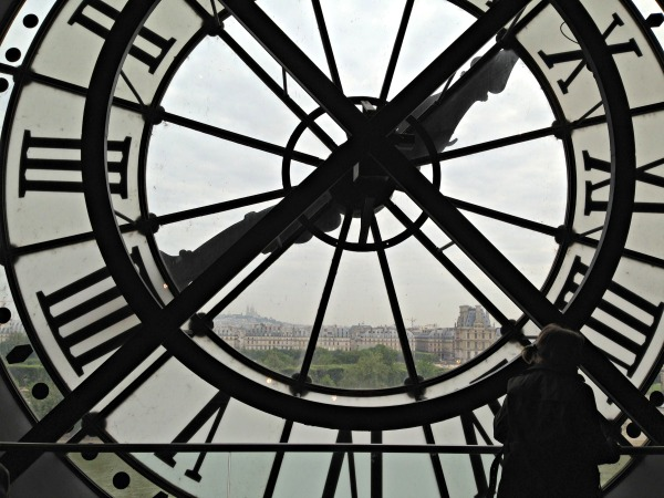 View from giant clock in Paris Orsay Museum. Photo copyright Lisa Nalbone