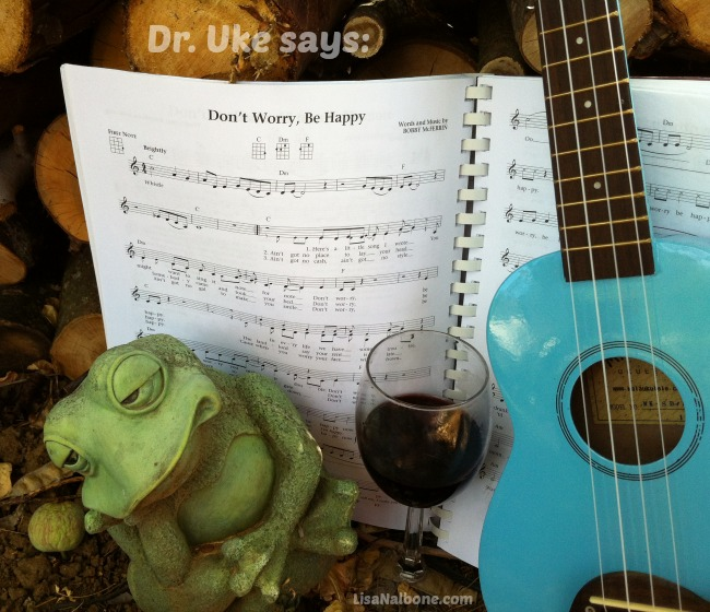 Ukulele and Frog: Don't Worry Be Happy photo by LIsa Nalbone