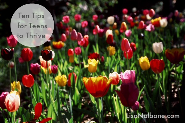 Ten Tips for Teen to Thrive at LisaNalbone.com Tulip Photo by J.PierreStephens