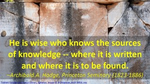 Wisdom to know where to find resources